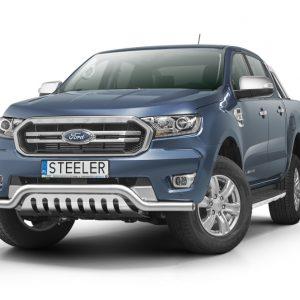 Bull bar NISKI grill - Ford Ranger d/c (2019+) - EU certifikat